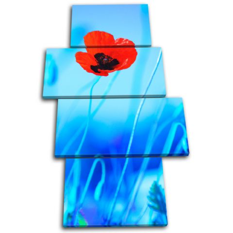 Poppies Flowers Floral - 13-1244(00B)-MP04-PO